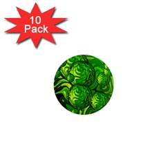 Green Balls  1  Mini Button Magnet (10 pack)