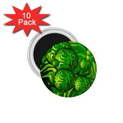 Green Balls  1.75  Button Magnet (10 pack)