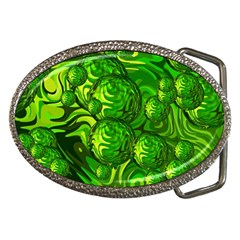 Green Balls  Belt Buckle (Oval)