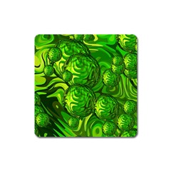 Green Balls  Magnet (square)