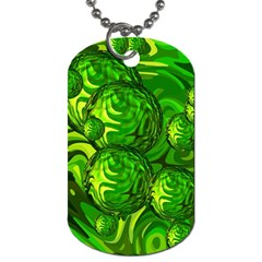 Green Balls  Dog Tag (one Sided)