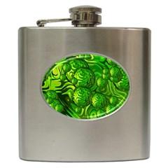 Green Balls  Hip Flask