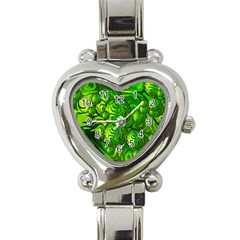 Green Balls  Heart Italian Charm Watch