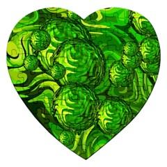 Green Balls  Jigsaw Puzzle (Heart)