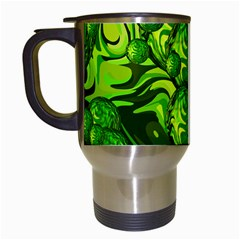 Green Balls  Travel Mug (White)