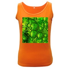 Green Balls  Womens  Tank Top (dark Colored)