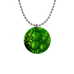 Green Balls  Button Necklace
