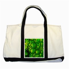 Green Balls  Two Toned Tote Bag