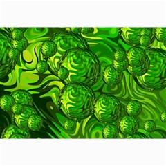 Green Balls  Canvas 12  x 18  (Unframed)