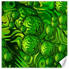 Green Balls  Canvas 16  x 16  (Unframed)
