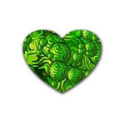 Green Balls  Drink Coasters (Heart)