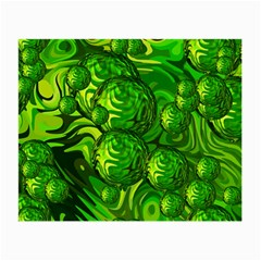 Green Balls  Glasses Cloth (Small, Two Sided)