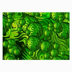 Green Balls  Glasses Cloth (Large, Two Sided)