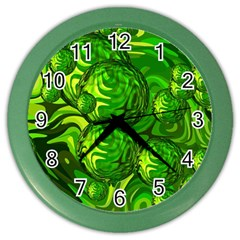 Green Balls  Wall Clock (Color)