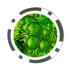 Green Balls  Poker Chip