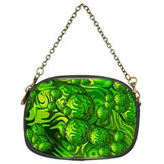 Green Balls  Chain Purse (two Sided)