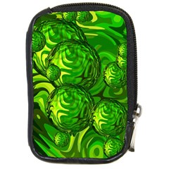 Green Balls  Compact Camera Leather Case