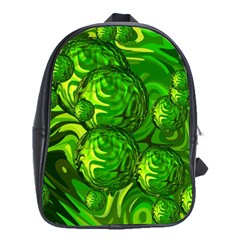 Green Balls  School Bag (Large)