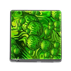 Green Balls  Memory Card Reader with Storage (Square)