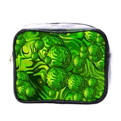 Green Balls  Mini Travel Toiletry Bag (one Side)