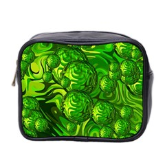Green Balls  Mini Travel Toiletry Bag (two Sides)