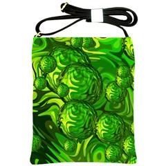 Green Balls  Shoulder Sling Bag
