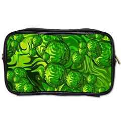 Green Balls  Travel Toiletry Bag (One Side)