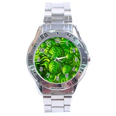 Green Balls  Stainless Steel Watch (men s)