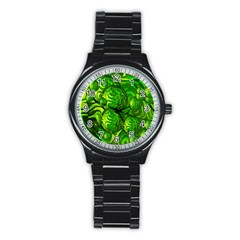 Green Balls  Sport Metal Watch (Black)