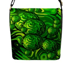Green Balls  Flap Closure Messenger Bag (Large)