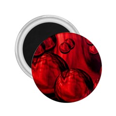 Red Bubbles 2.25  Button Magnet