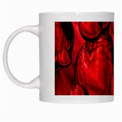 Red Bubbles White Coffee Mug