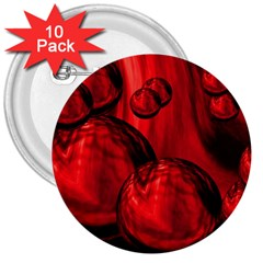 Red Bubbles 3  Button (10 pack)