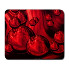 Red Bubbles Large Mouse Pad (rectangle)