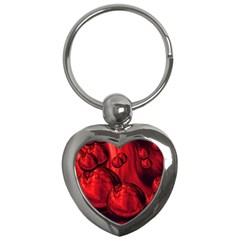 Red Bubbles Key Chain (Heart)