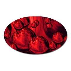 Red Bubbles Magnet (oval)