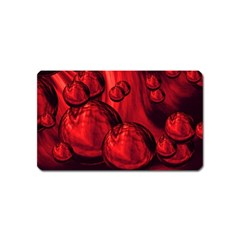 Red Bubbles Magnet (Name Card)