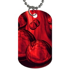 Red Bubbles Dog Tag (One Sided)