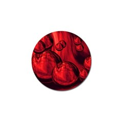 Red Bubbles Golf Ball Marker