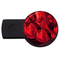 Red Bubbles 1GB USB Flash Drive (Round)