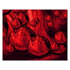 Red Bubbles Jigsaw Puzzle (Rectangle)