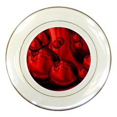 Red Bubbles Porcelain Display Plate