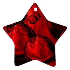 Red Bubbles Star Ornament (Two Sides)