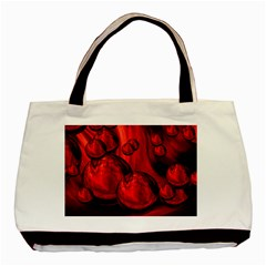 Red Bubbles Twin-sided Black Tote Bag