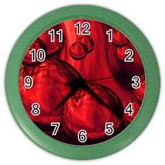 Red Bubbles Wall Clock (Color)