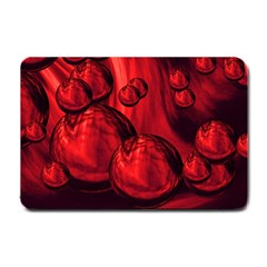 Red Bubbles Small Door Mat