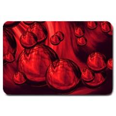 Red Bubbles Large Door Mat