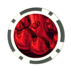 Red Bubbles Poker Chip