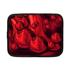 Red Bubbles Netbook Case (Small)
