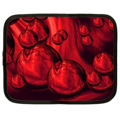 Red Bubbles Netbook Case (Large)